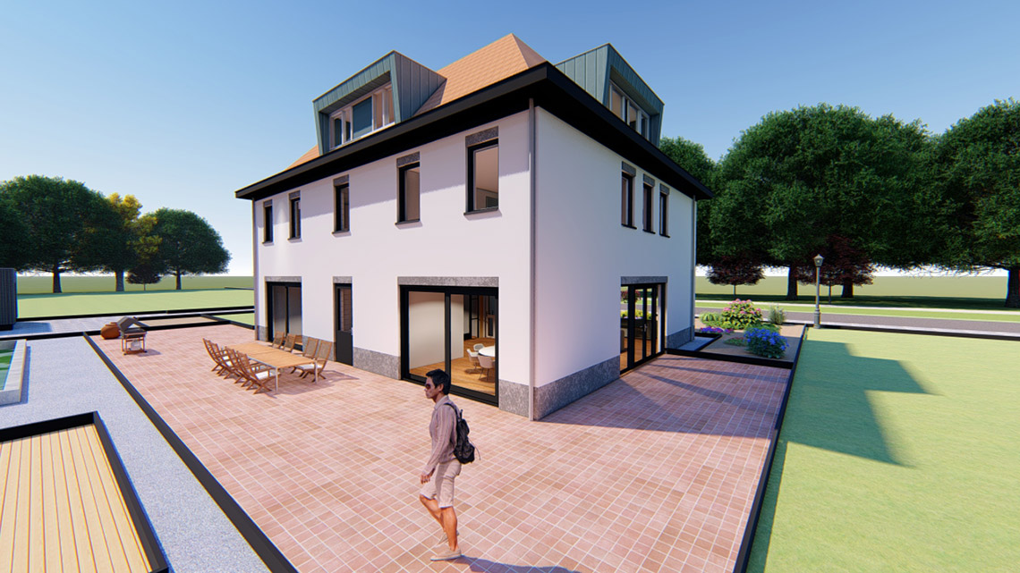 Qubus ontwerp landhuis